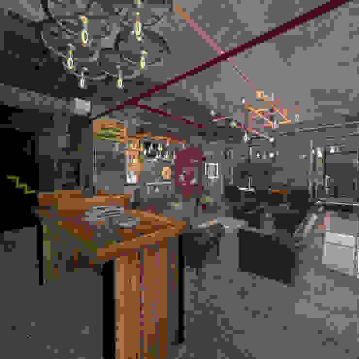 oficina San Roque Cajica :  de estilo industrial por jaguarq3destudio, Industrial Concreto