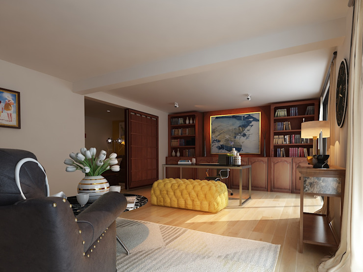 Casa Tarimoro: Estudios y oficinas de estilo  por Soma & Croma,