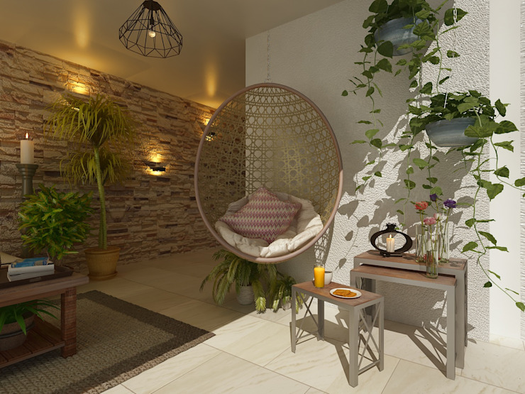 Casa Tarimoro: Terrazas de estilo  por Soma & Croma,