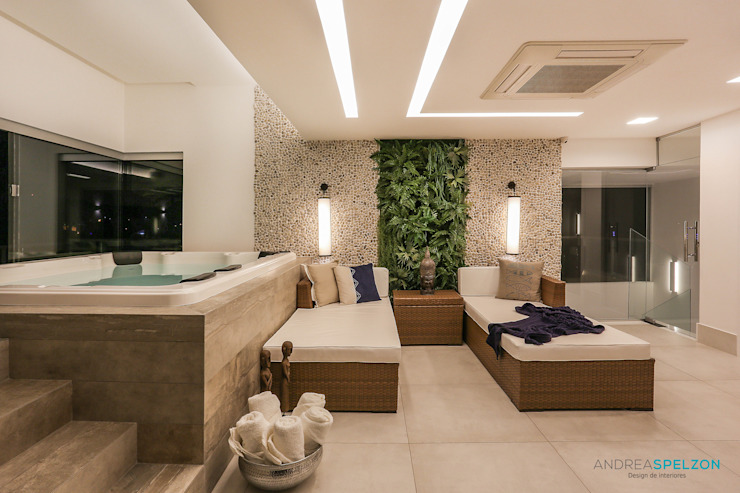 Andréa Spelzon Interiores Mediterranean style spa