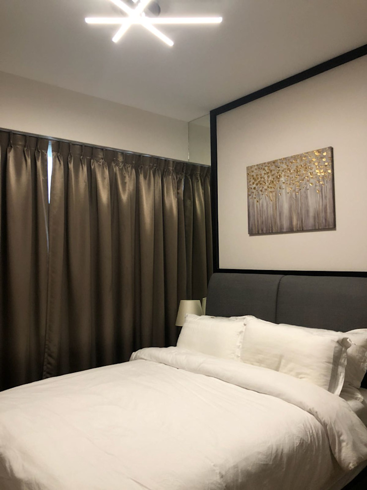 Commonwealth Towers Modern style bedroom by Singapore Carpentry Interior Design Pte Ltd Modern