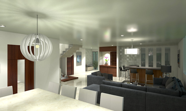CouturierStudio Minimalist living room