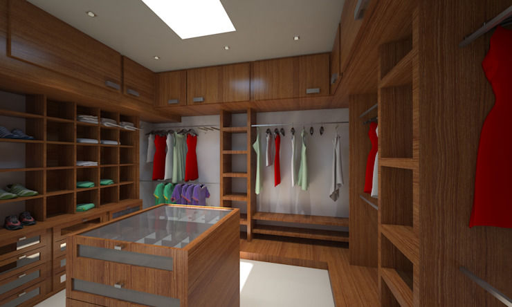 Minimalist style dressing rooms by CouturierStudio Minimalist