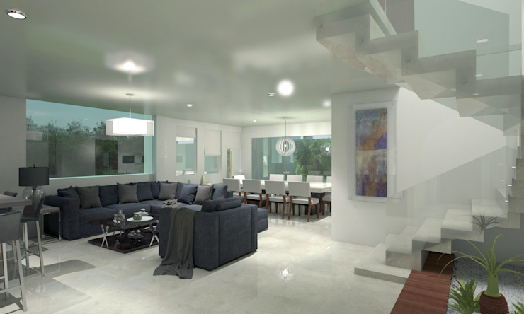CouturierStudio Salas de estar minimalistas