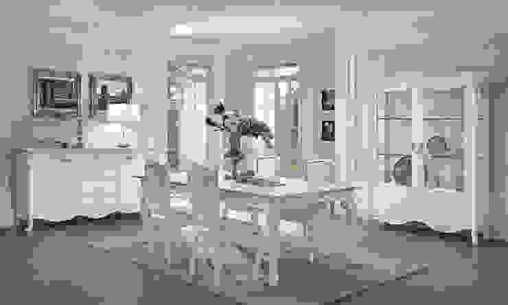 """Wohnzimmer Set """"Viola Bianca"""" in Weiß-Silber Klassische Italienische Möbel von SPELS-MÖBEL UG Klassisch Holzspanplatte"""