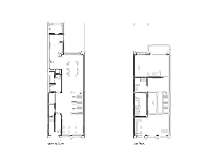 Woonhuis Brederodestraat: modern  door Bas Vogelpoel Architecten, Modern