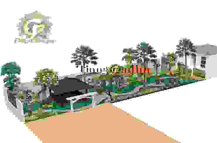 Desain Taman Halaman samping Oleh Tukang Taman Surabaya - Tianggadha-art
