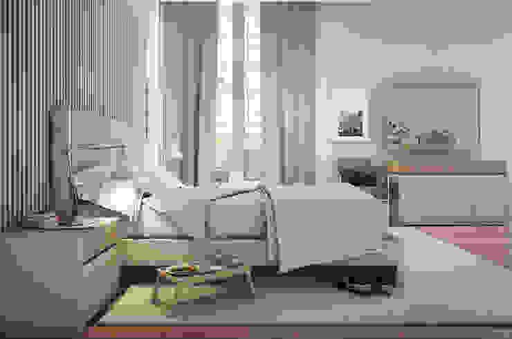 Bedroom D1 MJF Interiores Ldª QuartoCamas e cabeceiras MDF Bege