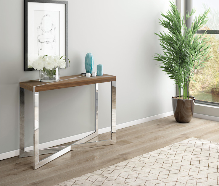 Consola Inox Cosmo MJF Interiores Ldª Corredor, hall e escadasCómodas e estantes Metalizado/Prateado