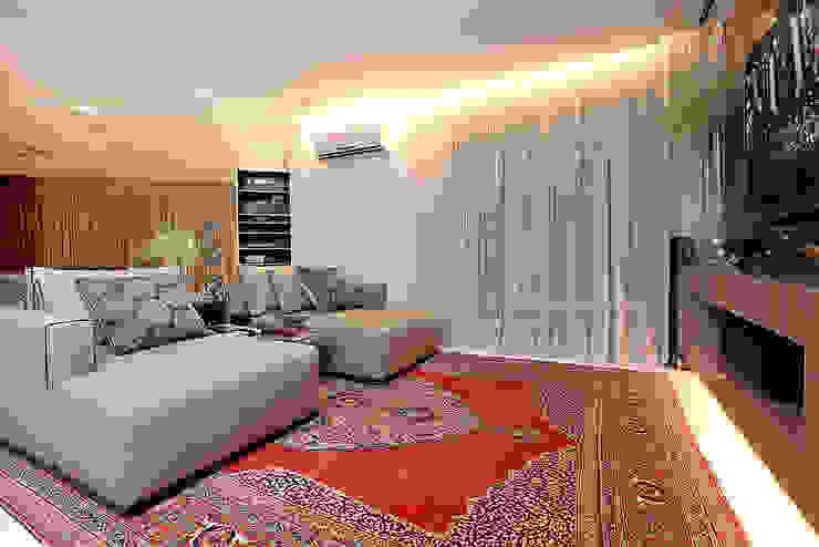 Apartamento Praia de Iracema RI Arquitetura Salas de estar rústicas