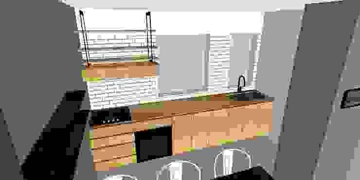Depto FM de MMAD studio - arquitectura interiorismo & mobiliario - Madera Acabado en madera