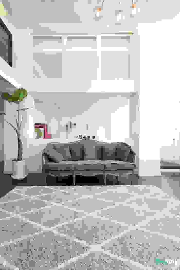 대전인테리어 신동아파밀리에 45평 아파트 탑층 인테리어 스칸디나비아 거실 by 디자인투플라이 북유럽