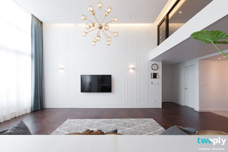 Scandinavian style living room by 디자인투플라이 Scandinavian
