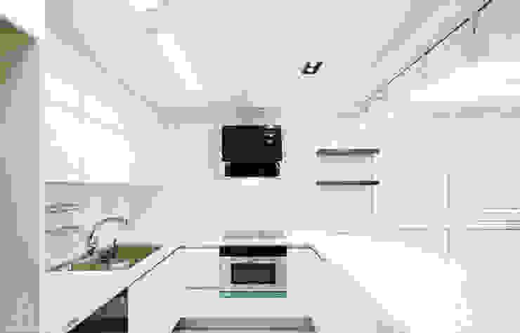 골드 컨셉, 인천 만수동 상가주택 인테리어 에클레틱 주방 by 디자인 아버 에클레틱 (Eclectic)