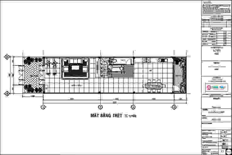Tư Vấn Xây Nhà 80m2 1 Trệt 2 Lầu Sân Thượng Với Giá 1 Tỷ bởi Công ty Thiết Kế Xây Dựng Song Phát Châu Á