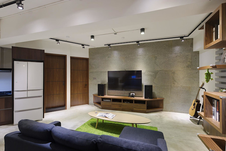 Boy To Man 现代客厅設計點子、靈感 & 圖片 根據 有偶設計 YOO Design 現代風