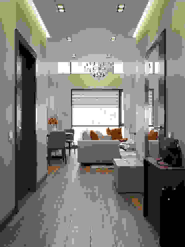 Moderner Flur, Diele & Treppenhaus von EJ Studio Modern