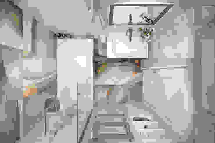 Квартира 66 кв.м. в стиле эклектика в ЖК Успенский Ванная комната в эклектичном стиле от Студия архитектуры и дизайна Дарьи Ельниковой Эклектичный