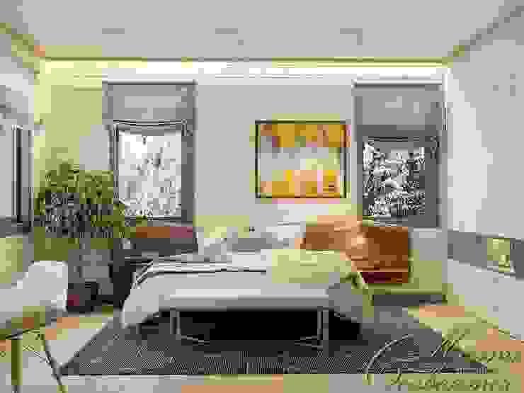 Dormitorios de estilo  por Компания архитекторов Латышевых 'Мечты сбываются', Moderno