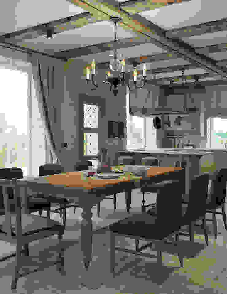 Mediterranean style dining room by EJ Studio Mediterranean