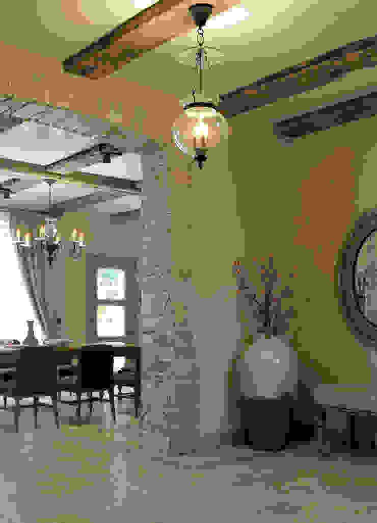 Mediterranean style corridor, hallway and stairs by EJ Studio Mediterranean