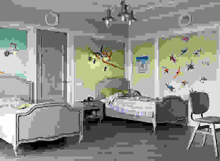 Habitaciones para niños de estilo mediterráneo de EJ Studio Mediterráneo