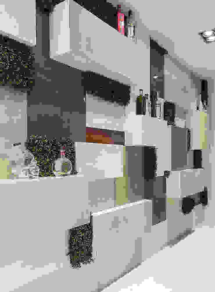 Wonder Wall - Jardins Verticais e Plantas Artificiais Dinding & Lantai Modern