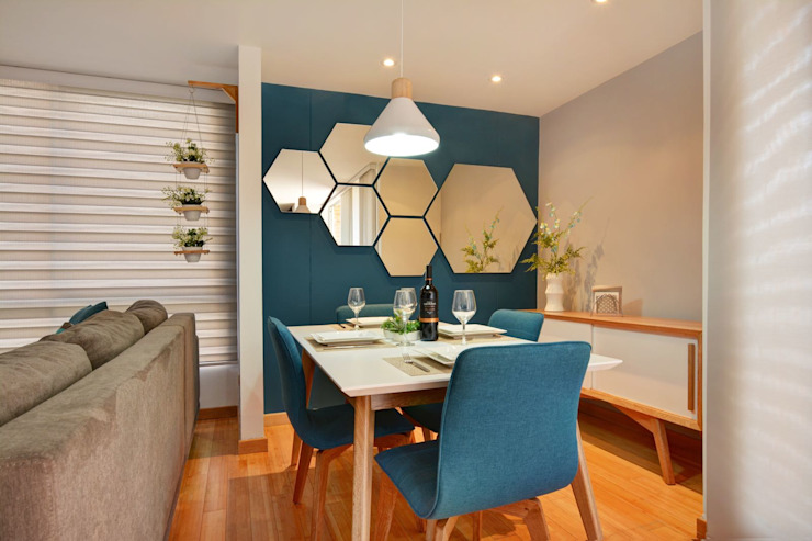 Gauss, disfruta cada espacio Comedores de estilo moderno de Natalia Mesa design studio Moderno Madera Acabado en madera