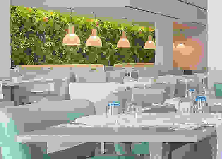 Wonder Wall - Jardins Verticais e Plantas Artificiais Modern Dining Room