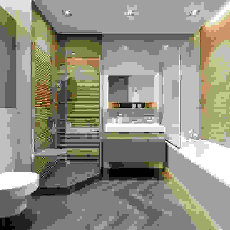 2-х комнатная квартира в центре Киева Ванная комната в стиле минимализм от EJ Studio Минимализм