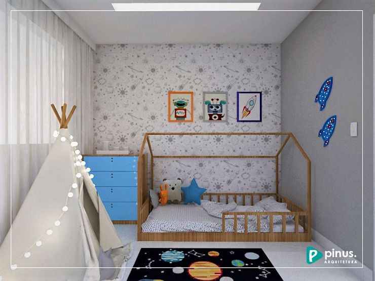 Nursery/kid's room by Pinus Arquitetura