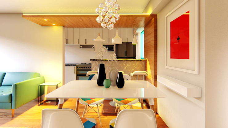 Modern dining room by Mauriola Arquitectos Modern