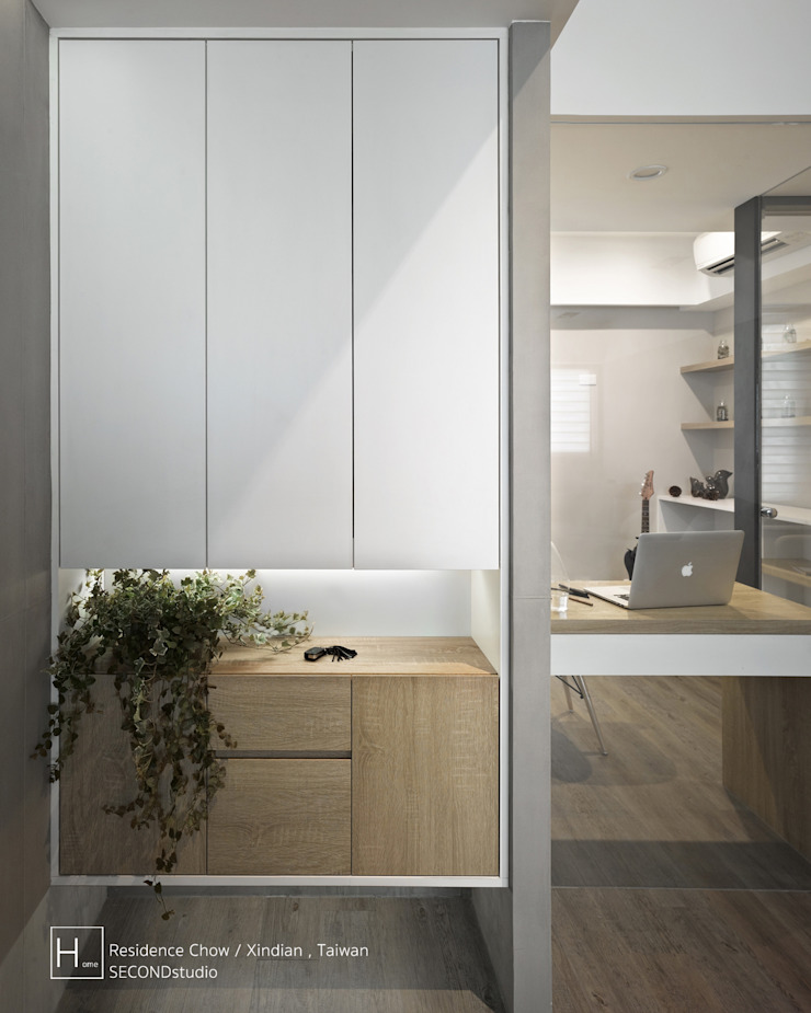 SECONDstudio Koridor & Tangga Minimalis Beton Grey