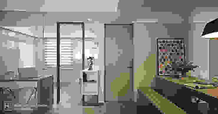 SECONDstudio Ruang Studi/Kantor Minimalis Beton Grey