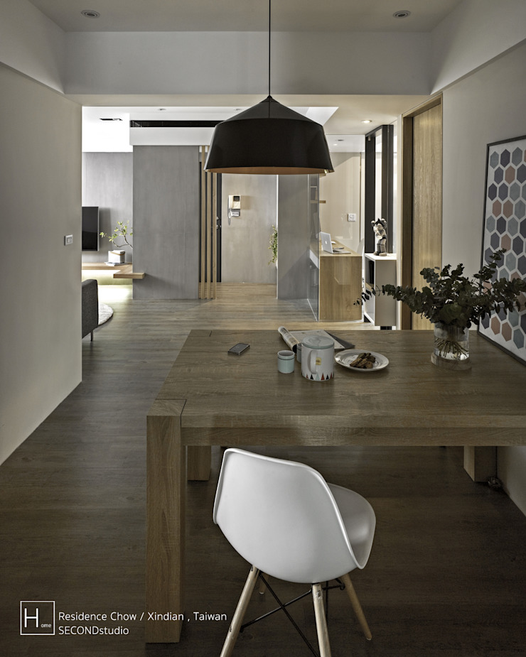 SECONDstudio Ruang Makan Minimalis Beton Grey