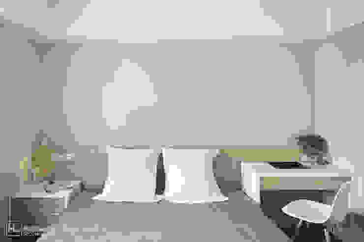 臥室 / Bedroom 根據 SECONDstudio 簡約風 木頭 Wood effect