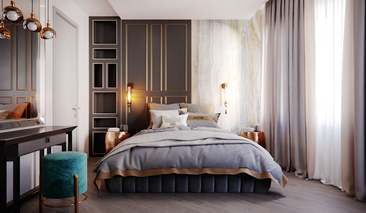 Flagman 150 кв.м Спальня в классическом стиле от Александра Геродотова Классический