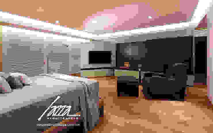 Recamara principal homify Dormitorios modernos Madera Azul
