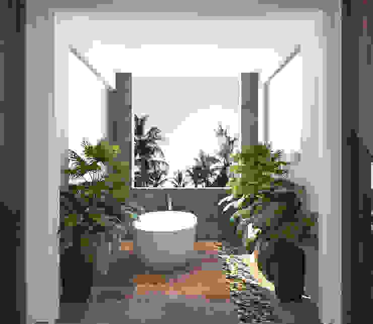 bathroom design with plants توسط Rhythm And Emphasis Design Studio