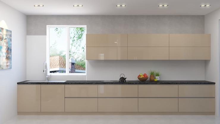 modern kitchen design توسط Rhythm And Emphasis Design Studio