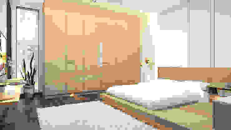 modern bedroom design توسط Rhythm And Emphasis Design Studio