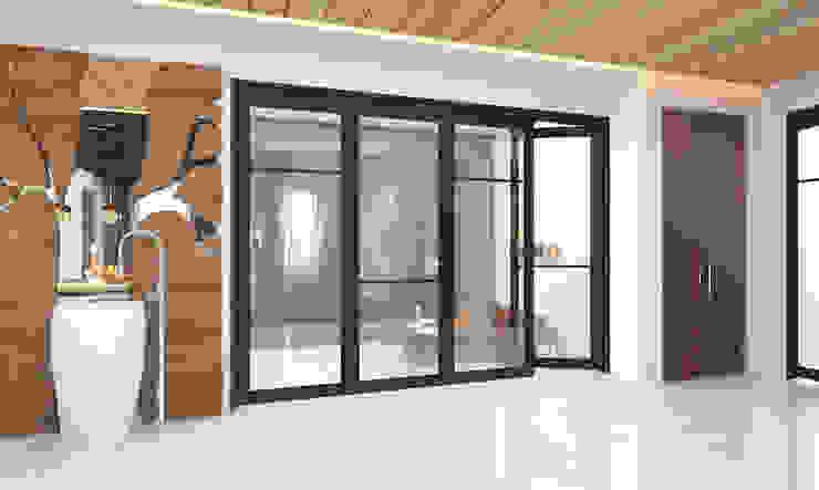 glass sliding door توسط Rhythm And Emphasis Design Studio