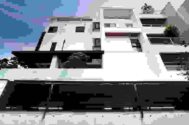 建築物西向立面 根據 黃耀德建築師事務所 Adermark Design Studio 簡約風