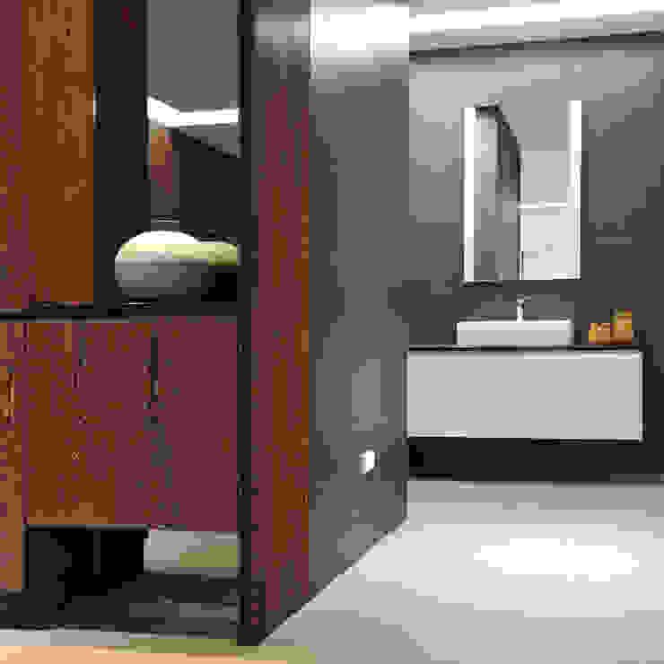 黃耀德建築師事務所 Adermark Design Studio Bagno minimalista