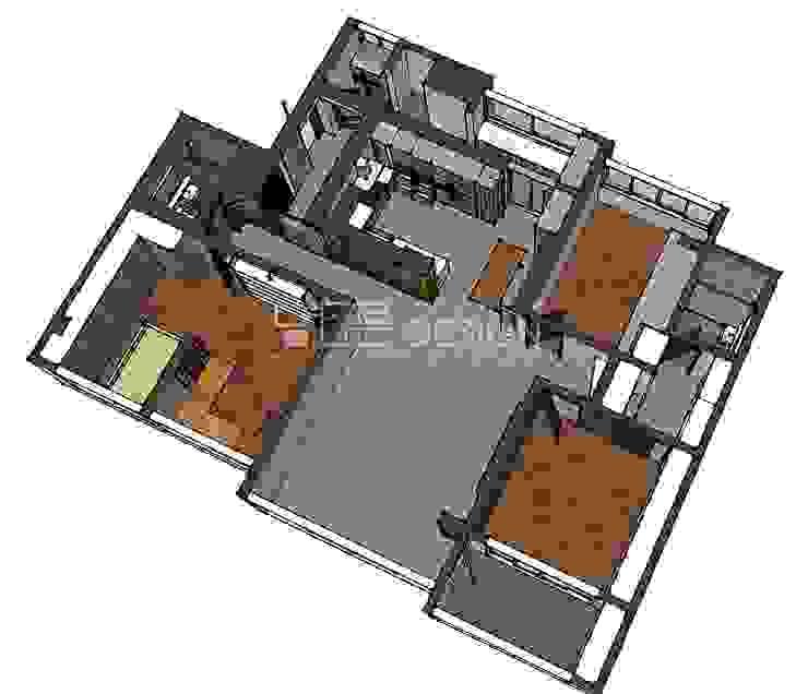 월성푸르지오 48평형: 남다른디자인의 현대 ,모던