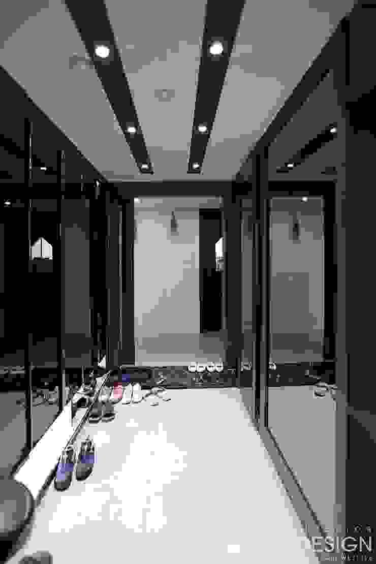 월성푸르지오 48평형 모던스타일 복도, 현관 & 계단 by 남다른디자인 모던