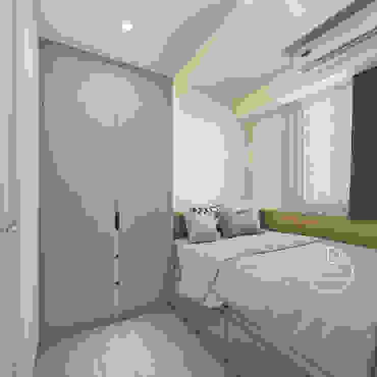 臥室/沉靜淺灰元素 自然人文宅邸 - 惠宇清朗 木博士團隊/動念室內設計制作 臥室 複合木地板 White