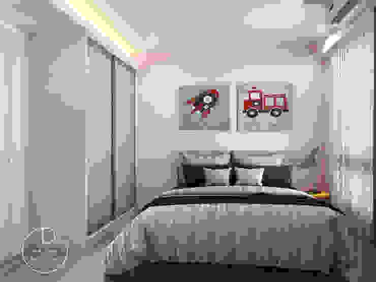 臥室/小孩房/沉靜淺灰元素 自然人文宅邸 - 惠宇清朗 木博士團隊/動念室內設計制作 臥室 複合木地板 Pink