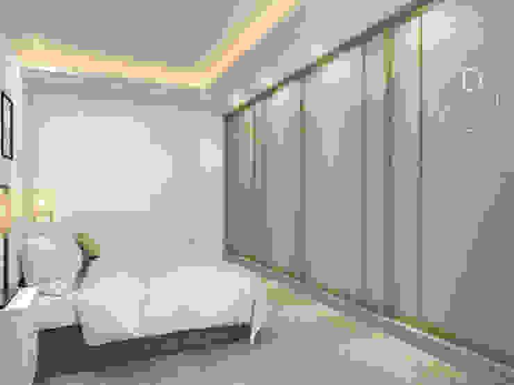 主臥室/臥室/沉靜淺灰元素 自然人文宅邸 - 惠宇清朗 木博士團隊/動念室內設計制作 臥室 複合木地板 White