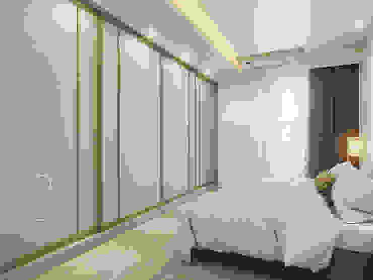主臥室/臥室/沉靜淺灰元素 自然人文宅邸 - 惠宇清朗 根據 木博士團隊/動念室內設計制作 現代風 複合木地板 Transparent